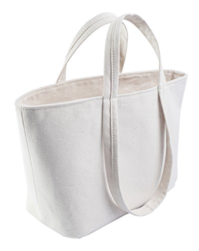 Small Tote Bag - Classic Canvas Minimalist Handbag Tote - Made in USA. Family owned & operated.