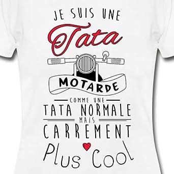 Je suis Une Tata Motarde Cool T-Shirt Femme