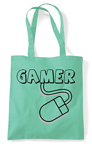 Gamer Statement Mouse Pc Gaming Tote Mint Shopper Bag 6H6URxq