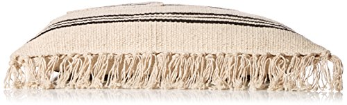 'ale By Alessandra Women's Saratoga Cotton Rug Bag With Leather Handles Black One Size Ale By Alessandra Womens Accessories