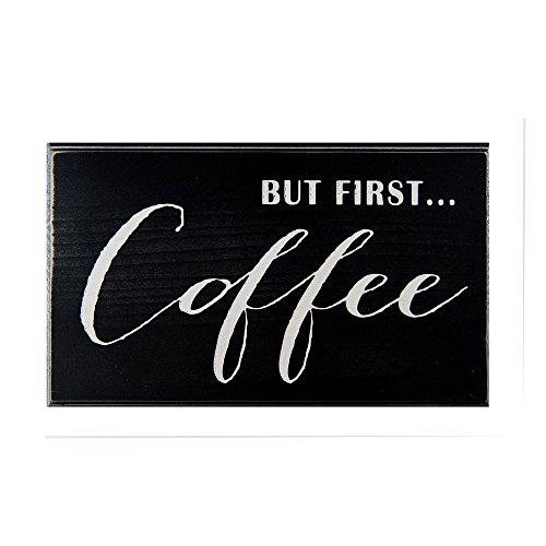 Captivating Coffee Wood Sign Black