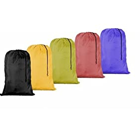 Large 30 X 40 Laundry Bag with Cord Assorted Colors and Patterns (3)