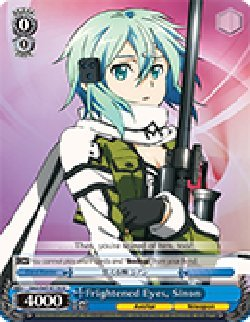 Frightened Eyes, Sinon - SAO/S47-E116 - U - Sword Art Online Re: Edit Booster - Online Edit Eyes