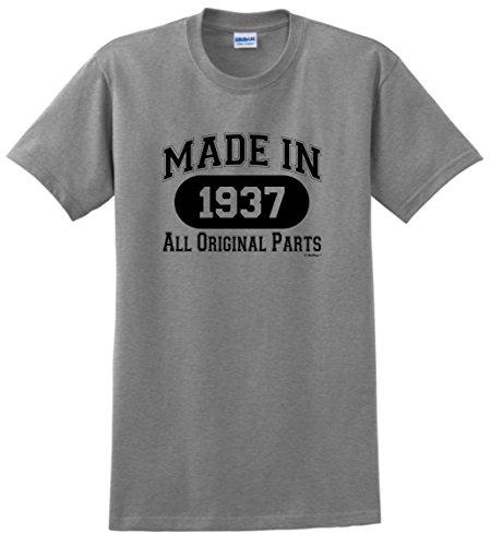 80th Birthday Gift Made 1937 All Original Parts T-Shirt XL Sport (80 Birthday)