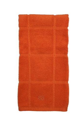 Calphalon Kitchen Towel - Calphalon Textiles Terry Kitchen Towel, Mandarin