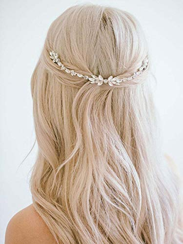 Barogirl Wedding Crystal Hair Comb Clip Bride Hair Piece Bridal Hair Accessories for Women -