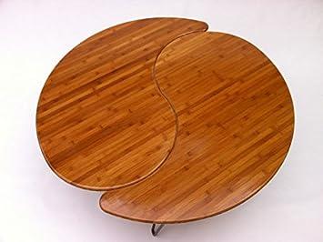 Amazoncom Yin Yang Nesting Large Round Coffee Table Mid