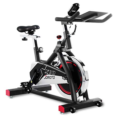 (JOROTO Indoor Cycling Bike Stationary - Professional Exercise Bike Stationary Bike for Home Cardio Gym Workout)