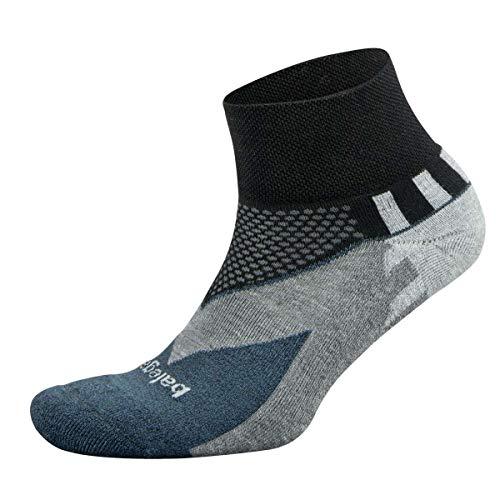 Balega Enduro V-Tech Quarter Socks For Men and Women (1 Pair), Black, Medium