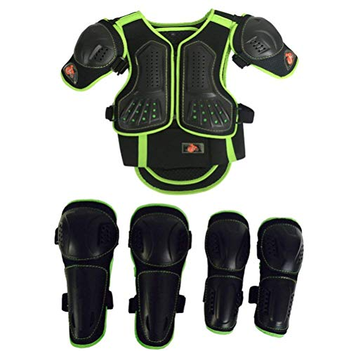Toach Kids Motorcycle Armor Suit Dirt Bike Chest Spine Protector Back Shoulder Arm Elbow Knee Protector Motocross Racing Skiing Skating Body Armor Vest Sports Safety Pads 3 Colors by Toach (Image #6)