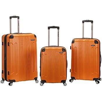 Rockland Hard Luggage, Spinner Luggage Luggage Set, Charcoal Fox Luggage-FOB CNNGB F236-CHARCOAL