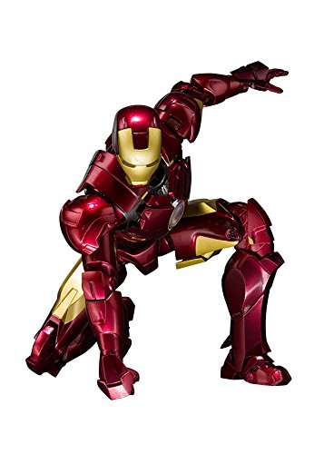 Bandai Tamashii Nations S.H. Figuarts Iron Man Mark 4 & Hall of Armor Set Action Figure, 2