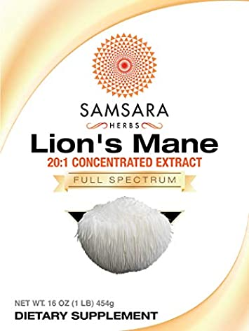 Samsara Herbs Lions Mane Extract Powder 16oz 454g – 20 1 Concentrated Extract