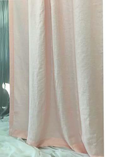 Amazon.com: Pink Linen Curtain,custom curtains, extra long curtains, Custom Curtains, FREE ...