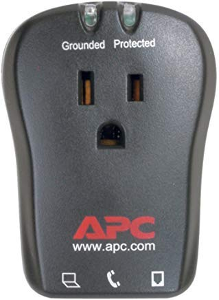 APC P1T 1-Outlet Travel Surge Protector 320 Joules W/Telephone Protection Electronics Computers ()