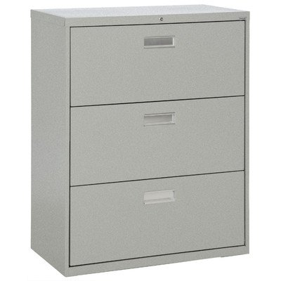 Sandusky Lee LF6A363-MG 600 Series 3 Drawer Lateral File Cabinet, 19.25