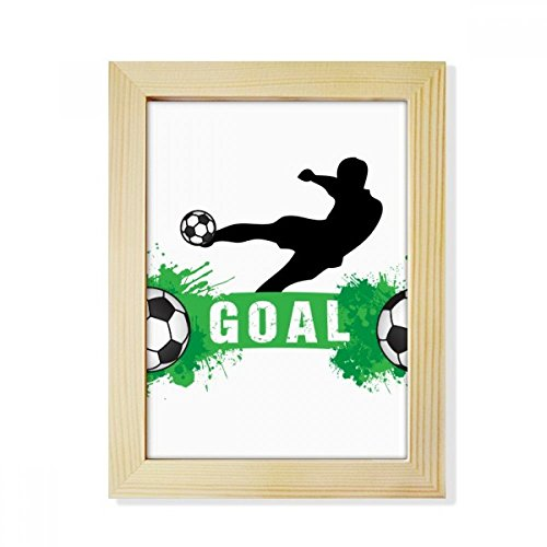 DIYthinker Penalty kick Soccer Football Sports Text Desktop Wooden Photo Frame Picture Art Painting 6x8 inch by DIYthinker