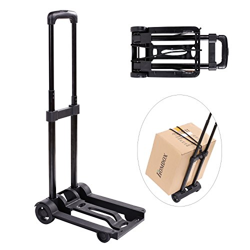 Folding Hand Truck & Dolly, Portable Utility Carts Heavy Duty Hand Truck Luggage Cart, Industrial/Travel/Shopping (US Stock) by shaofu