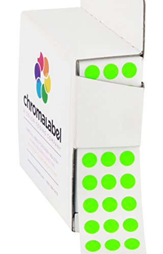 "1/4"" Fluorescent Green, Color-Coding Dot Stickers 