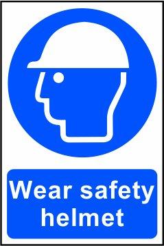 Casco de seguridad desgaste – Señal de seguridad – 1 mm rígido PVC – S/