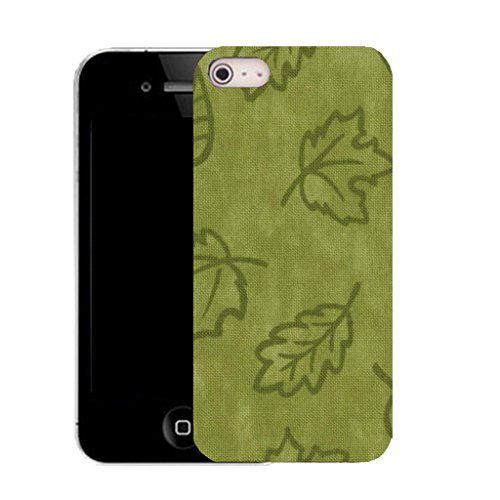 Mobile Case Mate IPhone 4s clip on Silicone Coque couverture case cover Pare-chocs + STYLET - autumn leaf pattern (SILICON)