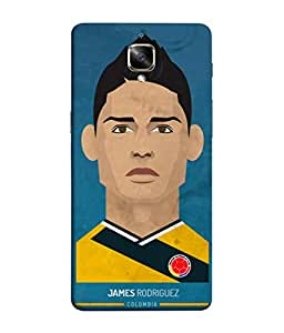 ColorKing Football Rodriguez Colombia 01 Blue shell case cover for OnePlus 3T