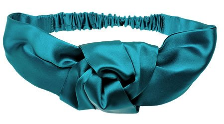 L. Erickson USA Silk Charmeuse Knot Turban - Silk Charmeuse Teal by L. Erickson USA