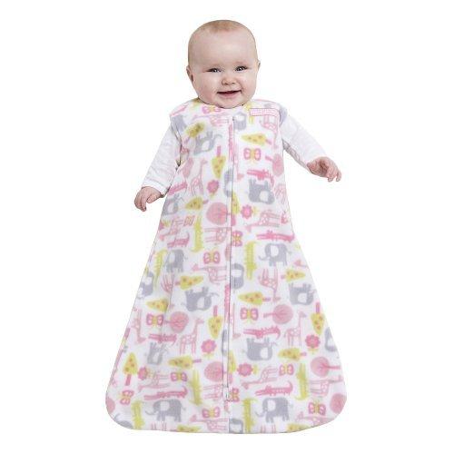 HALO SleepSack Wearable Blanket Microfleece Blanket - Pink Jungle (Halo Pink Blanket)