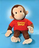 "Classic Curious George in Red Shirt 8"" by Gund"