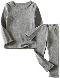 3c9e8c521 Toddler Boys Girls Thermal Underwear Long Sleeve T-Shirt Leggings 2Pcs Kids  Winter Base Layer