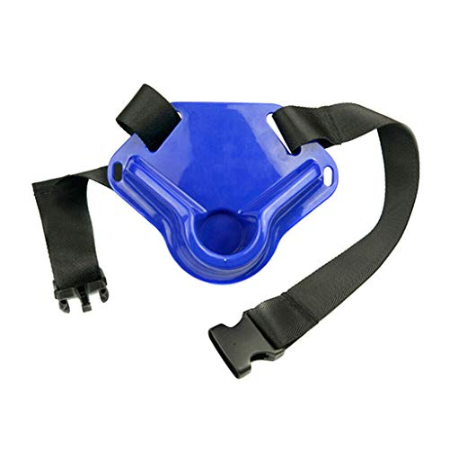 Bracket Belt Waist Gimbal Fishing Fighting Belt Fish Rod Holder Adjustable Pole Tackle - Durable,Impact Resistant (Blue)