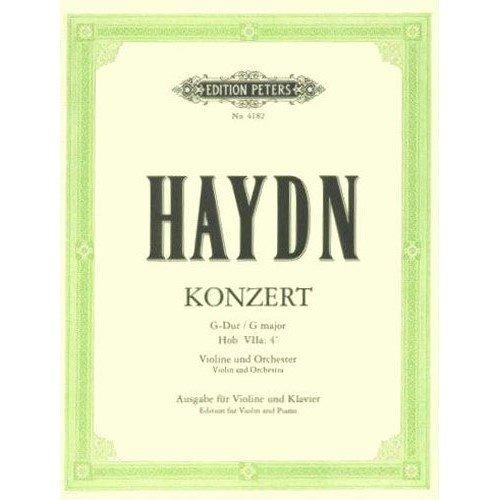 Haydn Franz Joseph Concerto No2 in G Major Hob VIIa:4 Violin and Piano by Ferdinand Kuchler Peters