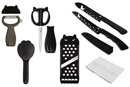 [세트 상품] KAI 카이지 루시 Nyammy 6 종 세트 (필러, 주걱 주방 가위 슬라이서, 칼, 과일 칼)