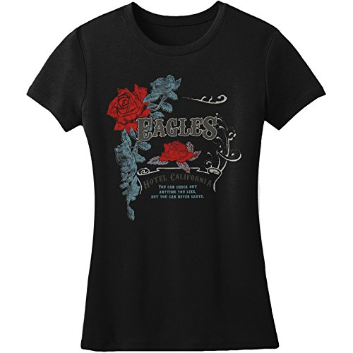 Eagles Vintage W/ Foil Rose Crest Girls Jr Tissue Tee for sale  Delivered anywhere in USA