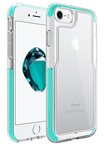 Iphone 7 Case  Zuslab  Armor Pro  Military Grade Shock Proof Polyone Material With Tpu Bumper Cover Drop Protection Hd Pc Back Cover For Apple Iphone 7 2016  Mint   Clear