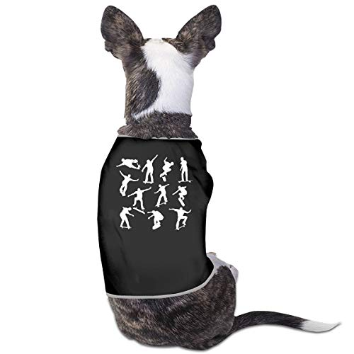 COLLJL8 Skateboarders Pattern Pets Clothing Costume Puppy Dog Clothes Vest Tee T-Shirt