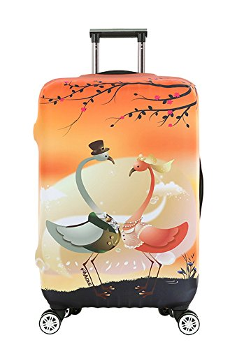 Myosotis510 Funny 3D Animals Luggage Protector Suitcase Cover 18-32 Inch by Myosotis510