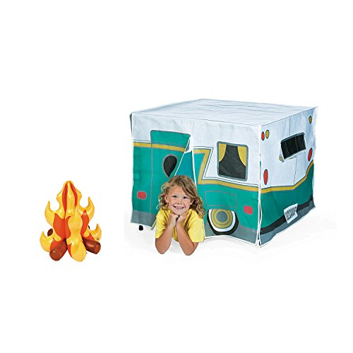 - Bunco Game Shop Kids Play Camper Table Tent and Inflatable Camp Fire