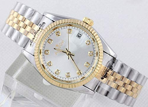 SANLUX 高級ブランドの新しい腕時計男性デイトジャストシルバーゴールド腕時計自動機械式ステンレススチール日付ちょうど腕時計レロジオ男性
