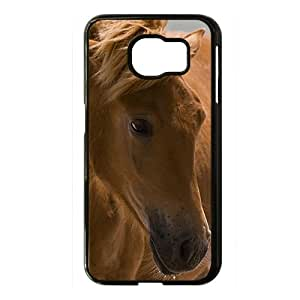 Animals,Black And White Pictures Black Phone Case for Samsung S6