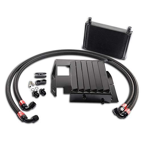 (New 25 Row For BMW 3 SERIES 335I E90 E92 N54 Bolt On Oil Cooler Kit Upgrade Black)