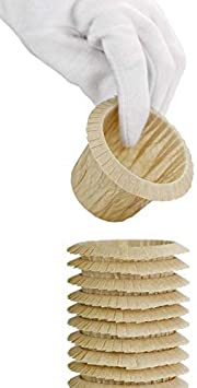 pas de moules n/écessaires FiveSeasonStuff Paquet de 60 Bo/îtes de muffins Beige Cupcake//Tasses de papier de cuisson standard Enveloppes doublures avec bord pli/é /él/égant