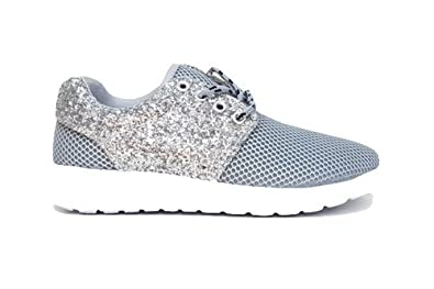 e66947150e2 Ladies Women Gym FitnessBlin Bling Running Sports Yeezy Inspired Trainers  Boost Shoes Size 3-12
