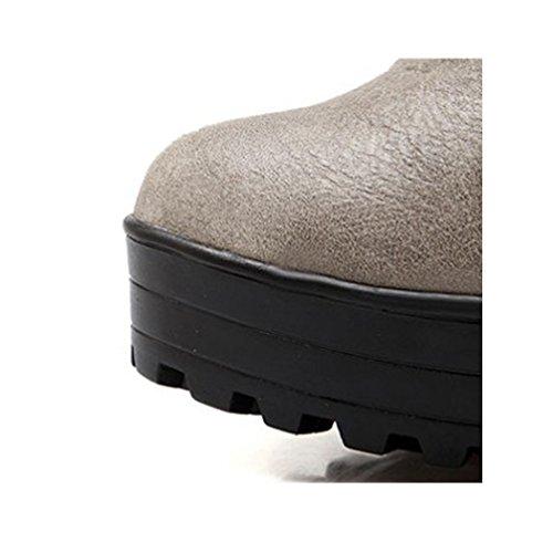 Grey Deer Zipper Ankle Women's Booties Leather 4Xqxw1rEX