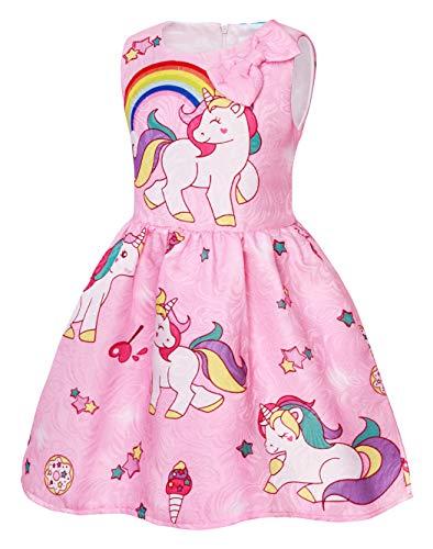 625a07ee8 AmzBarley Vestido de princesa fiesta del unicornio Vestidos sin mangas  estrellados para ni os ni as. 🔍. - 33%
