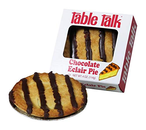 Table Talk Pie, Snack pies, 4oz - Pack of 2 (Chocolate Eclair) made in Massachusetts