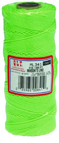 MARSHALLTOWN The Premier Line ML341 Mason's Line 500-Foot Fluorescent Green Braided Nylon - Lime Green String