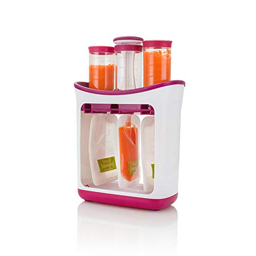 Bubble-Princess - Squeeze Food Station Baby Food Organization Storage Containers Baby Food Maker Set Fruit Puree Packing Machine