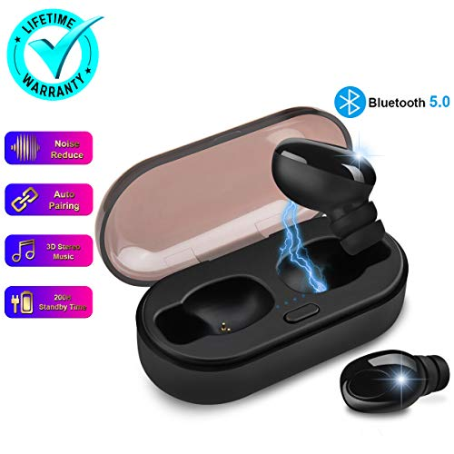 Wireless Earbuds,Bluetooth Earbuds Wireless Earphones Noise Cancelling with Mic Charging Case,Sport Running Mini True Stereo Earbuds Bluetooth Compatible iOS Android Samsung Phones X 8 7