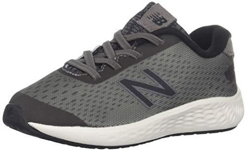 New Balance Boys' Arishi Next V1 Hook and Loop Running Shoe, Dark Gull Grey/Black, 3.5 W US Little Kid